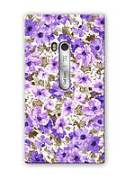 Чехол для Nokia Lumia 900 (Фиолетовые цветы)