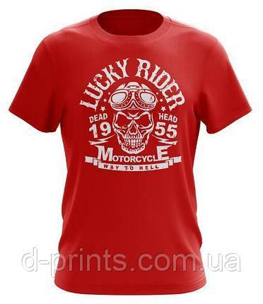 "Футболка мужская с рисунком "" Lucky Rider"" FB-004"