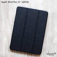 """Кожаный чехол-книжка для Apple iPad Pro 11"""" (2018) (черный)"""