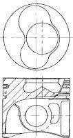 Поршень T5 1.9TDI (79.51mm 0.5)(3-4 цил.)