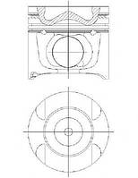Поршень Sprinter OM642 06- (83.01mm/STD)(4-6 цил.)