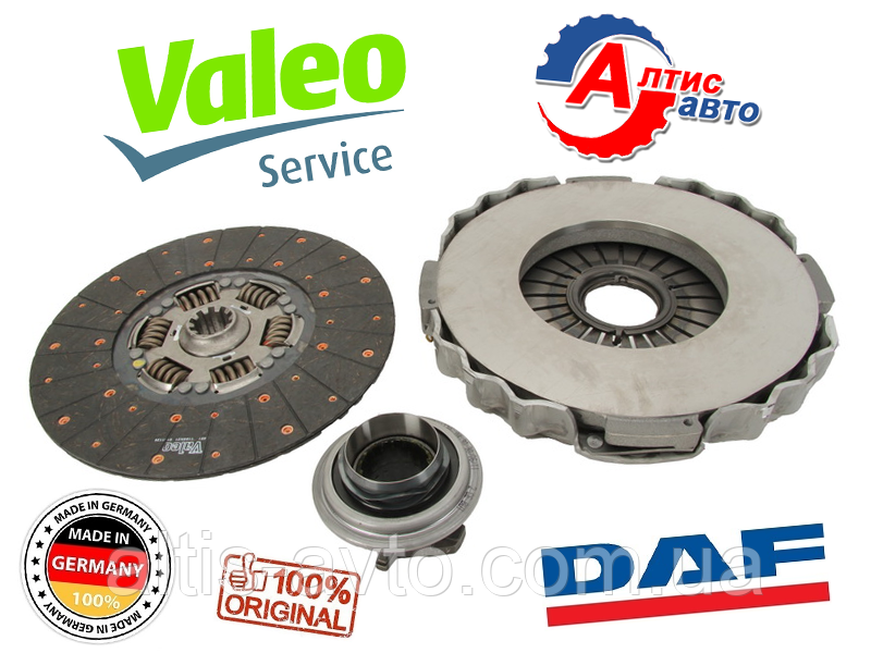 Комплект сцепления DAF 105, XF 95/85CF (оригинал Valeo) ,CF75 -D=430 mm 827283, 3400700504, 3400122101