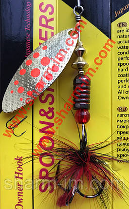 Вертушка Duralure Mosquito 3 (8 г) col. GRD Точна Копія Mepps Aglia Long, фото 2