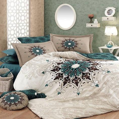 Двуспальный комплект постельного белья евро 200*220 хлопок  (11465) TM KRISPOL Украина, фото 2