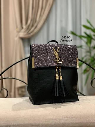cc162d2c3deb Черный рюкзак-сумка с лиловым глитером «3840-7»: Цена, материал ...