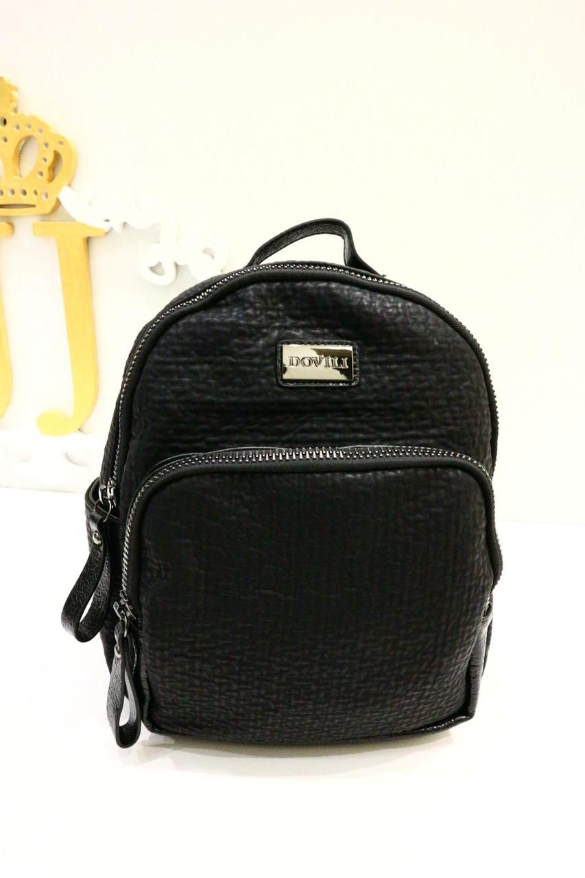 Черный рюкзак со змейками «LH - 3050»