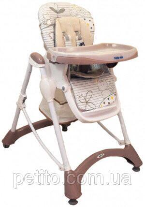 Детский стульчик для кормления и игр с регулировкой сиденья baby mix 198