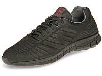 Шкіряні кросівки чоловічі демісезонні чорні 45 розмір Мида 111060-9