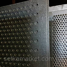Решето (сито) для Петкус гігант (700х1065 мм.), осередок 3,0 мм,товщина 0,8 мм, оцинковане.