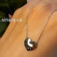 Серебряное колье Сердце - Колье Сердце серебро
