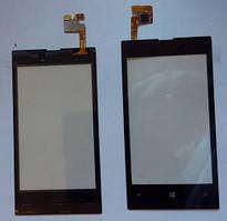 Nokia Lumia 520 сенсорний екран, тачскрін чорний
