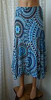 Юбка женская легкая летняя длинная бренд Marks&Spencer р.50