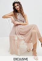 02fecb60af5 Maya Bridesmaid розовое женское платье без рукавов с пайетками
