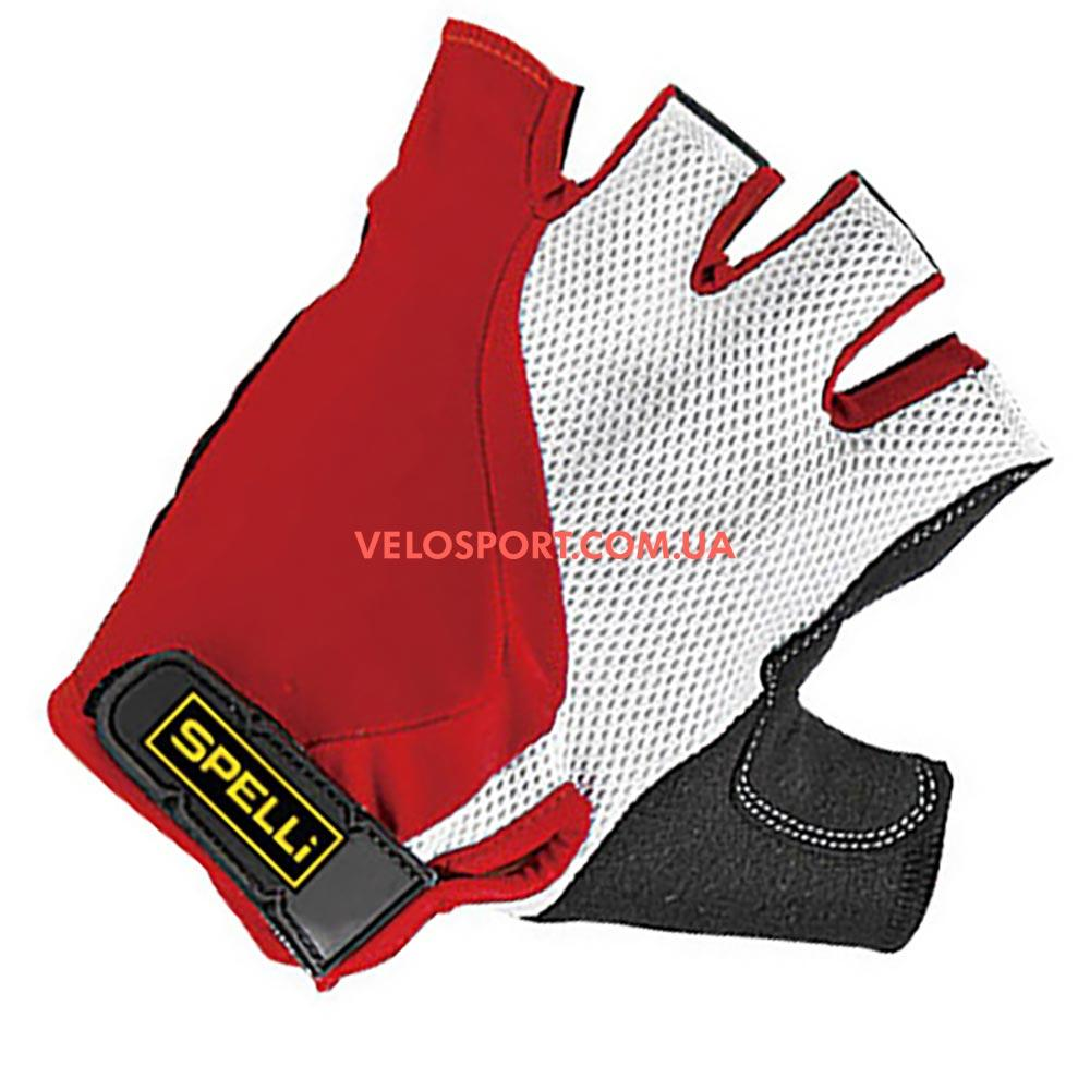Велоперчатки SPELLI SCG356 красно-белые l,XL
