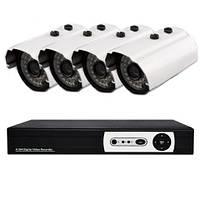 4-х канальная система домашнего видеонаблюдения DVR KIT H.264 DIY 4 Channel Код:10600