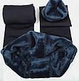 Леггинсы лосины гамаши теплые на меху Fur с носочком, фото 2