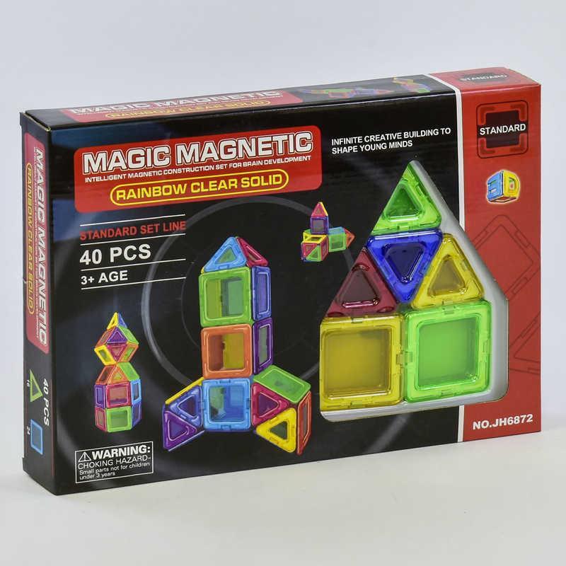 Конструктор магнитный JH 6872 (36) 40 деталей, в коробке