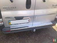 Накладка на задний бампер Opel Vivaro (Опель Виваро),  нерж. CARMOS
