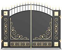 Ворота кованые распашные 2