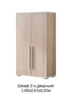 Шкаф 2-х дверный Нео/Neo Сонома (Скай ТМ), фото 2