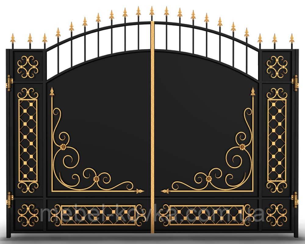Ковані ворота розпашні Троєщина