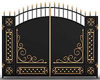 Кованые ворота распашные 3