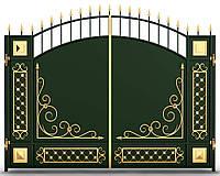 Распашные кованые ворота 4