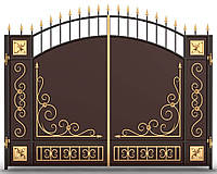 Ворота металлические распашные 5