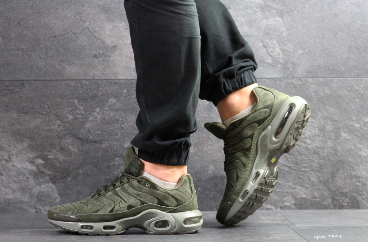 3caf2ed7 Мужские кроссовки темно зеленые Nike Air Max TN 7394: продажа, цена ...