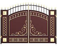 Кованые ворота распашные  8