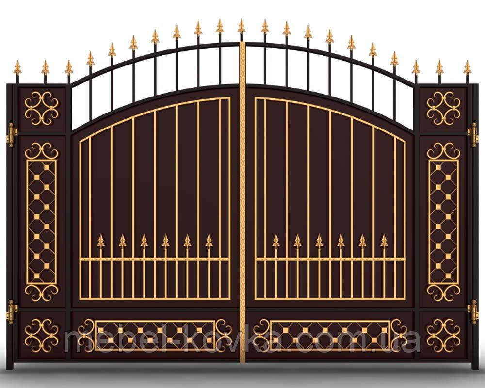 Ворота ковані розпашні Погреби