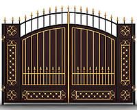 Ворота кованые 15