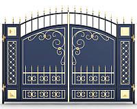 Ворота кованые 17