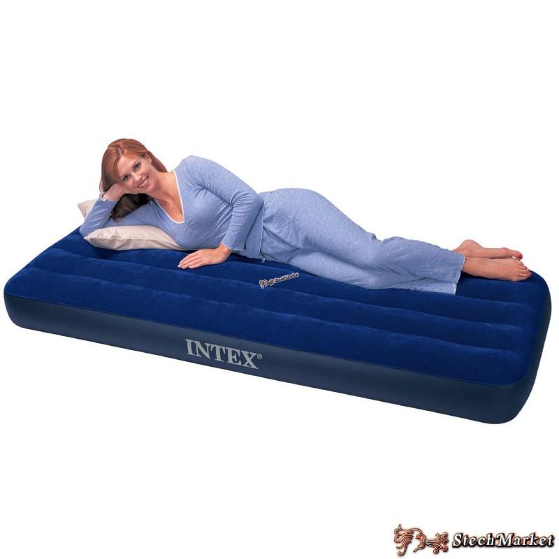 Надувной ортопедический двуспальный матрас-кровать Intex 68757 (99х191х22) см)