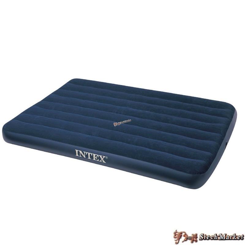 Надувной ортопедический двуспальный матрас-кровать Intex 68758 (137х191х22) см)