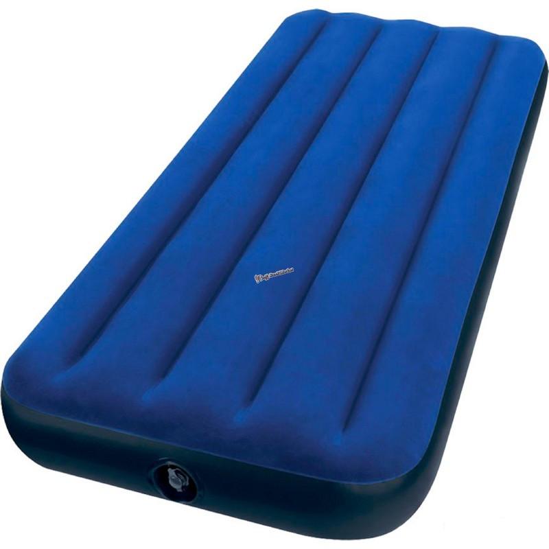 Односпальный надувной велюровый матрас Intex 68950 76х191х22 см