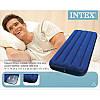 Односпальный надувной велюровый матрас Intex 68950 76х191х22 см, фото 2