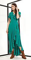 Платье Buter-658 белорусский трикотаж, изумруд, 42