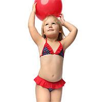 Польский купальник для девочки раздельный  р-р 92,98,104,110,116