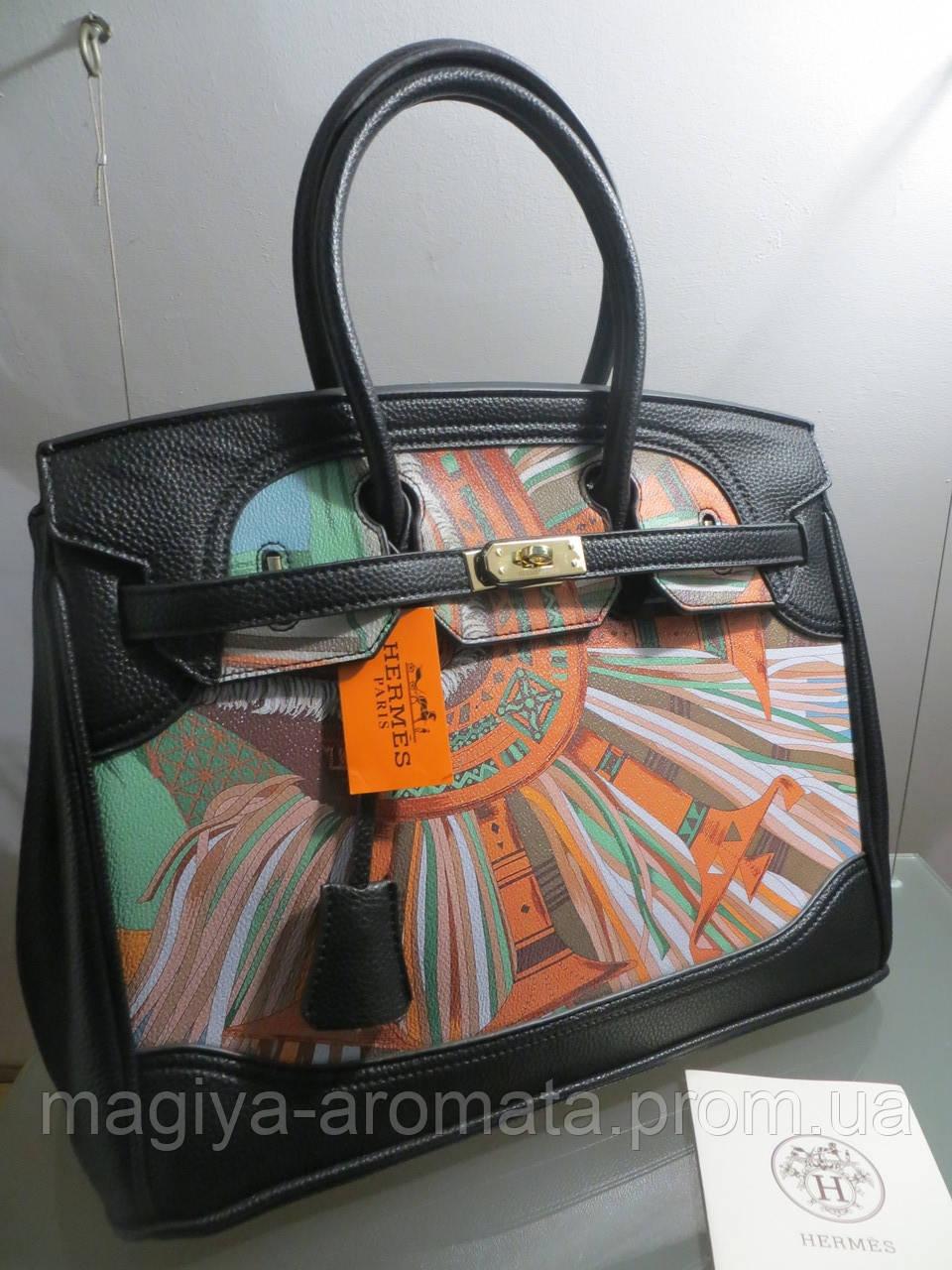 5c93db74d608 Женская кожаная сумка Hermes с принтом 35 см Гермес Биркин Эрме - Магия  Аромата - Парфюмерия