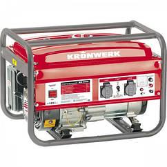 Генератор бензиновый KRONWERK KB 2500, 2,4 кВт, 220 В/50Гц, 15 л, ручной пуск