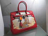 67b29d9a5302 Женская кожаная сумка Hermes с принтом 35 см Original quality Гермес Биркин  Эрме