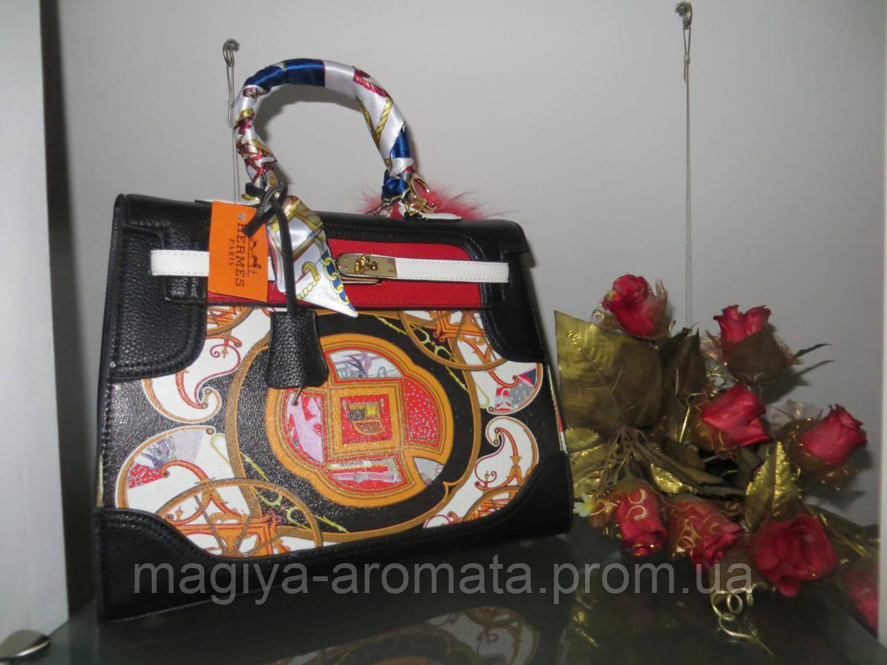 4151929f69bc Женская сумка от Hermes с принтом 35 см Original quality Гермес Биркин Эрме  - Магия Аромата