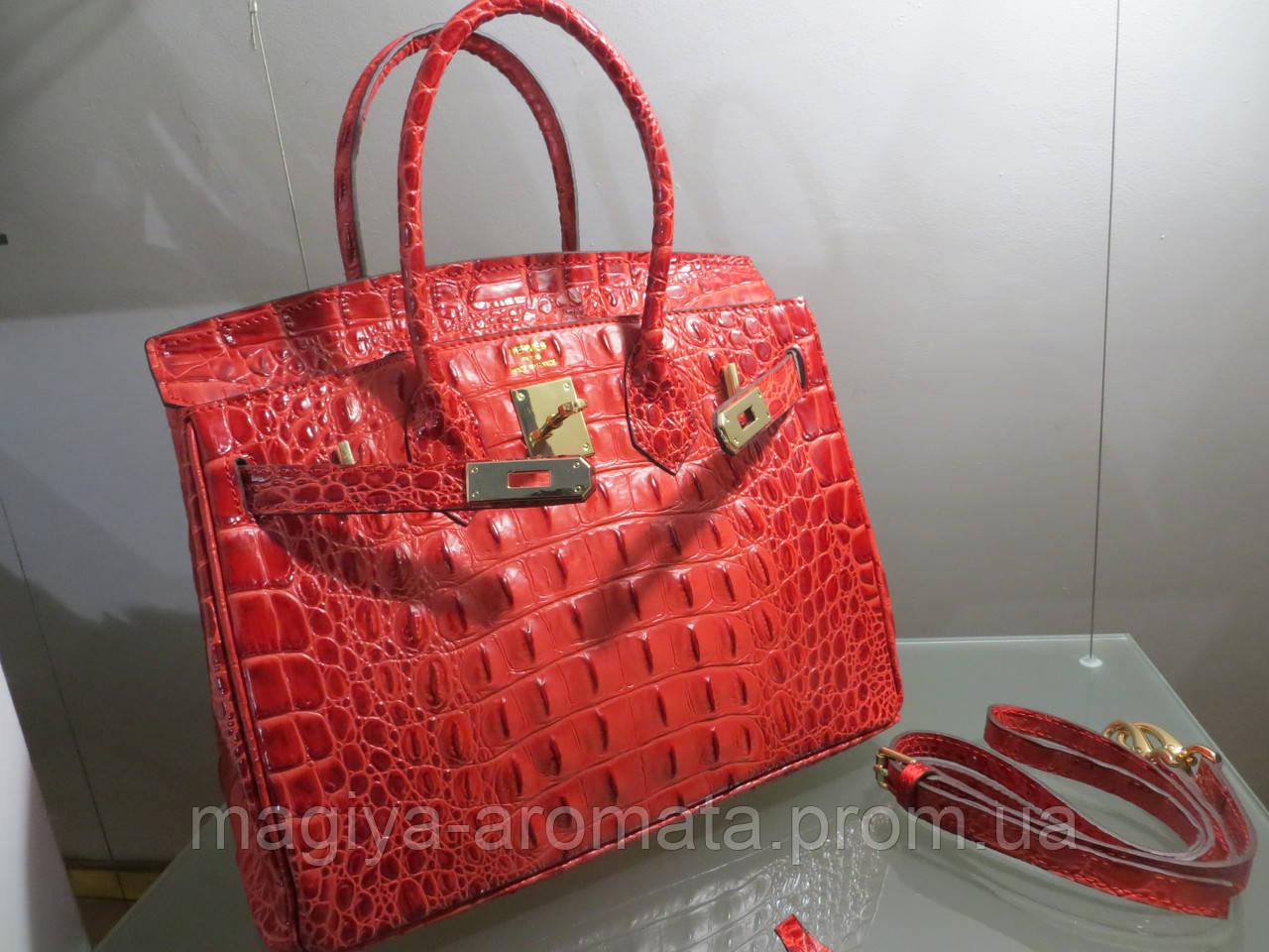 35951048ee65 Женская сумка от Hermes КРАСНО БОРДОВАЯ КРОКО 30 см Original quality, цена  9 765 грн., купить в Киеве — Prom.ua (ID#890103734)