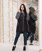 Демисезонная куртка на молнии размеры 46-56