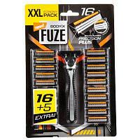 Станок для бритья Body-X Fuze + 21 запаска, фото 1