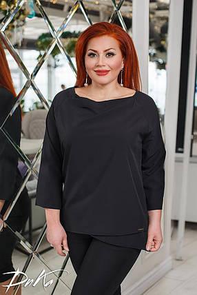 Простая блуза асимметричного кроя, фото 2