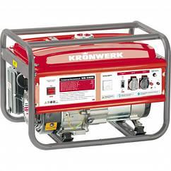 Генератор бензиновый KRONWERK KB 5000, 5 кВт, 220 В/50Гц, 25 л, ручной пуск