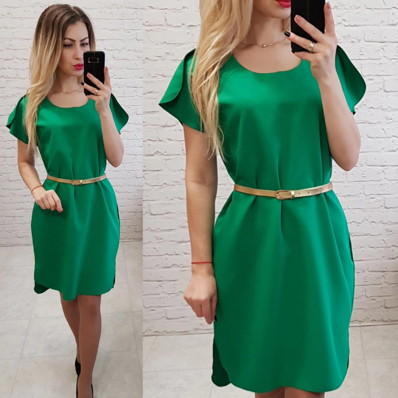 Платье летнее, новинка 2018, модель 815, цвет - зеленый