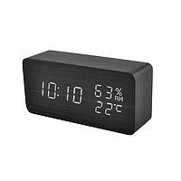 Настольные сетевые часы VST-862S-6 белая подсветка